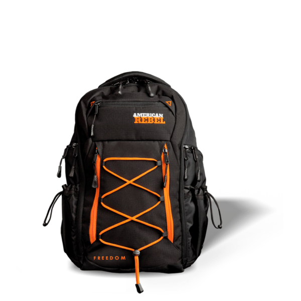 M Freedom Concealed Carry Backpack - Black/Orange