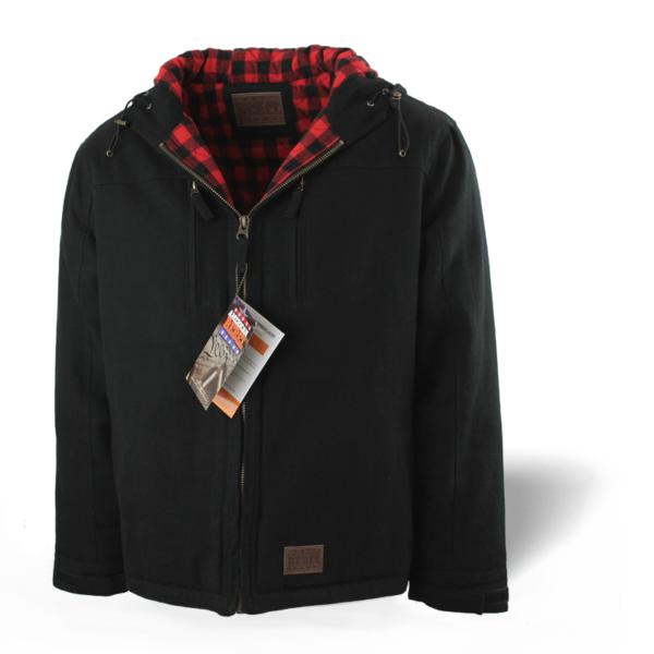 Men's Cartwright Concealed Carry Hooded Coat - Black