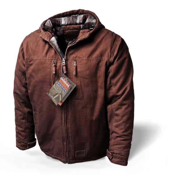 Men's Cartwright Concealed Carry Hooded Coat - Brown
