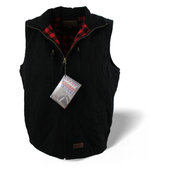 Men's Cartwright Concealed Carry Hoodless Vest - Black