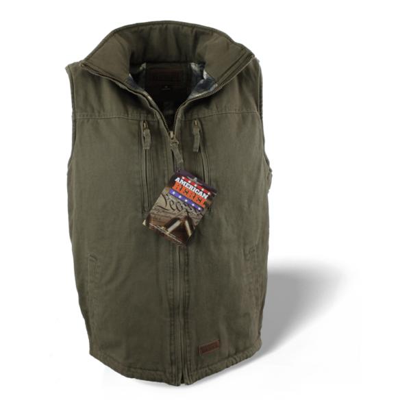 Men's Cartwright Concealed Carry Hoodless Vest - Olive Green